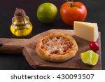 arabic pepperoni sfiha over a... | Shutterstock . vector #430093507