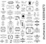 set of elegant calligraphic... | Shutterstock .eps vector #430096873