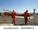 oil drilling exploration  the... | Shutterstock . vector #430098013