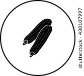 striped zucchini symbol | Shutterstock .eps vector #430107997