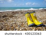 wellies on the beach for the... | Shutterstock . vector #430123363