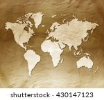 retro map | Shutterstock . vector #430147123
