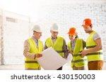 construction workers. team of... | Shutterstock . vector #430150003