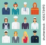 flat professions set. universal ...