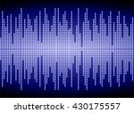 sound waves oscillating dark... | Shutterstock .eps vector #430175557