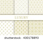 set of vector seamless gold...   Shutterstock .eps vector #430178893