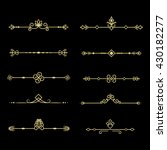 set of decorative vintage... | Shutterstock .eps vector #430182277