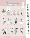travel people vector... | Shutterstock .eps vector #430182673