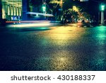 vintage style   rainy night in... | Shutterstock . vector #430188337