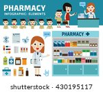 drugs icons set isolated on... | Shutterstock .eps vector #430195117