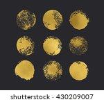 golden glitter circles boho... | Shutterstock .eps vector #430209007