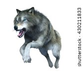 3d Cg Rendering Of A Wolf