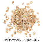 Oat Flakes On A White Background