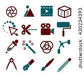 media editor icon set | Shutterstock .eps vector #430234393