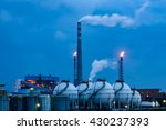 oil refineries in the night | Shutterstock . vector #430237393