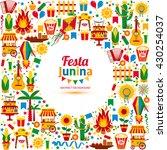 festa junina village festival... | Shutterstock .eps vector #430254037