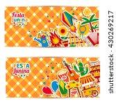 festa junina village festival... | Shutterstock .eps vector #430269217