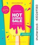 hot summer sale. melting ice... | Shutterstock .eps vector #430269583