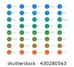 olympic sports vector icons.... | Shutterstock .eps vector #430280563