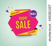 sale banner. 50  off. vector... | Shutterstock .eps vector #430281337