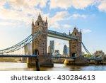 tower bridge in london during... | Shutterstock . vector #430284613