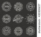 set of vintage sunburst. hand... | Shutterstock .eps vector #430300657