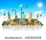 famous monuments of the world... | Shutterstock . vector #430303333