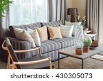 modern living room interior... | Shutterstock . vector #430305073