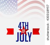 victor illustration of 4th july ... | Shutterstock .eps vector #430318957