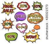 set of speech bubbles in pop... | Shutterstock .eps vector #430321573