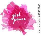 lettering phrase slogan on... | Shutterstock .eps vector #430339243