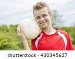 a active happy boy  having fun... | Shutterstock . vector #430345627