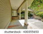 entrance porch with white... | Shutterstock . vector #430355653