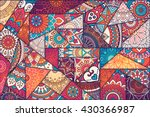 Stock vector patchwork pattern vintage decorative elements hand drawn background islam arabic indian 430366987