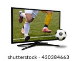 watching smart tv translation... | Shutterstock . vector #430384663