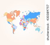 colorful map of the world.... | Shutterstock .eps vector #430389757