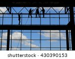 silhouette and blue sky... | Shutterstock . vector #430390153