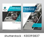 blue fold ribbon technology... | Shutterstock .eps vector #430393837