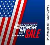 independence day sale banner... | Shutterstock .eps vector #430403953