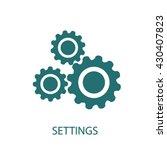 settings icon  | Shutterstock .eps vector #430407823