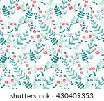 vector colorful floral seamless ... | Shutterstock .eps vector #430409353
