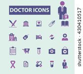 doctor icons  | Shutterstock .eps vector #430410517
