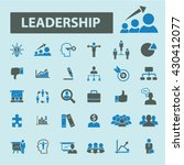 leadership icons    Shutterstock .eps vector #430412077