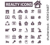 realty icons  | Shutterstock .eps vector #430414687