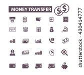 money transfer icons    Shutterstock .eps vector #430414777