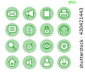 set of sixteen web ui icons....