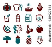 vegetables  fruit icon set | Shutterstock .eps vector #430427893