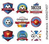 set of soccer   football  ... | Shutterstock .eps vector #430437457