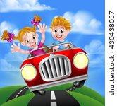 a cartoon man and woman having... | Shutterstock . vector #430438057