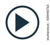vector play icon | Shutterstock .eps vector #430440763
